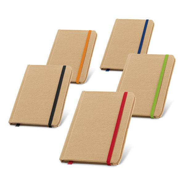 Σημειωματάριο οικολογικό χάρτινο με λάστιχο (93709) Ντοσιέ - Σημειωματάρια - Organizers
