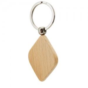 Μπρελόκ ξύλινο σε σχήμα ρόμβου (B526) ΔΙΑΦΗΜΙΣΤΙΚΑ ΜΠΡΕΛΟΚ
