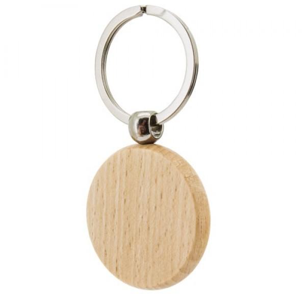 Μπρελόκ ξύλινο σε σχήμα κύκλου (B527)