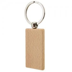 Μπρελόκ ξύλινο σε σχήμα ορθογωνίου (B529) ΔΙΑΦΗΜΙΣΤΙΚΑ ΜΠΡΕΛΟΚ