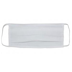 Μάσκα Υφασμάτινη Άσπρη με πιέτες (MSKL1)