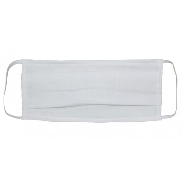Μάσκα Υφασμάτινη Άσπρη με πιέτες (MSKL1) ΜΑΣΚΕΣ ΠΡΟΣΤΑΣΙΑΣ ΥΦΑΣΜΑΤΙΝΕΣ - ΕΙΔΗ ΠΡΟΣΤΑΣΙΑΣ
