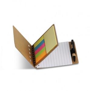Οικολογικό σημειωματάριο με στυλό και post-it (S26474) Οικολογικά Είδη