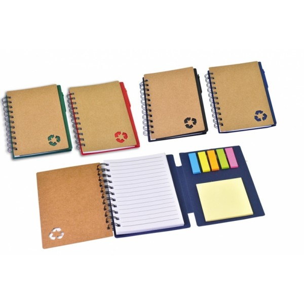Οικολογικό σημειωματάριο με στυλό και post-it (884763) Είδη Γραφείου - κομπιουτεράκια