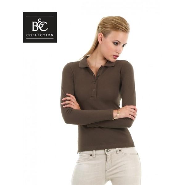 Διαφημιστικα μπλουζακια πολο - Γυναικείο μπλουζάκι polo μακρυμάνικο B&C  (ID001LSL) Διαφημιστικά Μπλουζάκια Polo