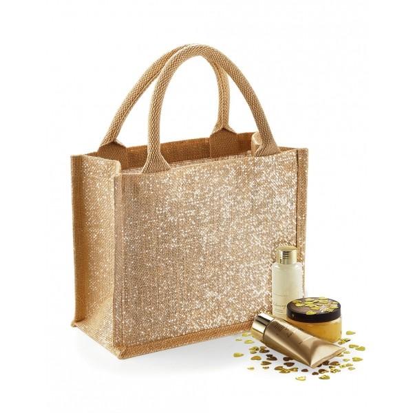 Shimmer Jute Mini Τσάντα (63528) Τσάντες Διαφημιστικές