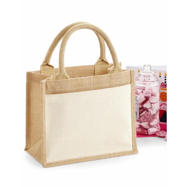 Jute Τσάντα με Τσέπη Mini (65028) Τσάντες Διαφημιστικές