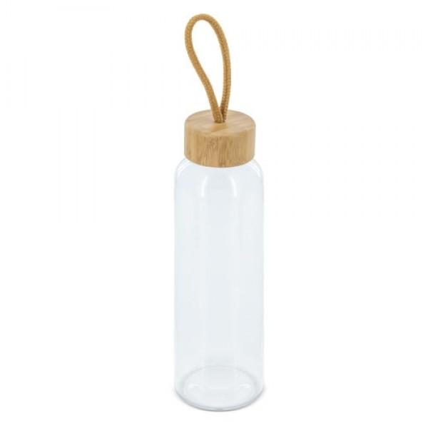 Γυάλινο Μπουκάλι με καπάκι μπαμπού (Z-1092) Οικολογικά Είδη