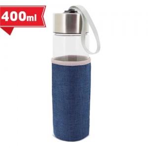 Γυάλινο Μπουκάλι με Θήκη 400ml (Z-9382) Κούπες Διαφημιστικές