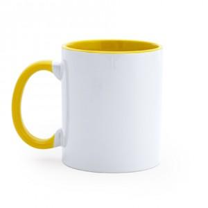 Kούπα Sublimation με Κίτρινο εσωτερικό και λαβή (MG0103) Κούπες Διαφημιστικές