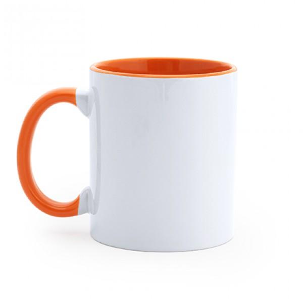 Kούπα Sublimation με Πορτοκαλί εσωτερικό και λαβή (MG0131) Κούπες Διαφημιστικές